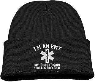 ADGoods Kids Children EMT Job is to Save You Ass Beanie Hat Knitted Beanie Knit Beanie For Boys Girls Gorra de béisbol par...