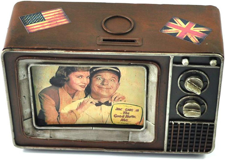 Xinyexinwang Modelo Retro de TV, alcancía, Accesorios para el hogar Minimalistas, Adornos Bar cafetería, artesanías Decorativas, Regalos