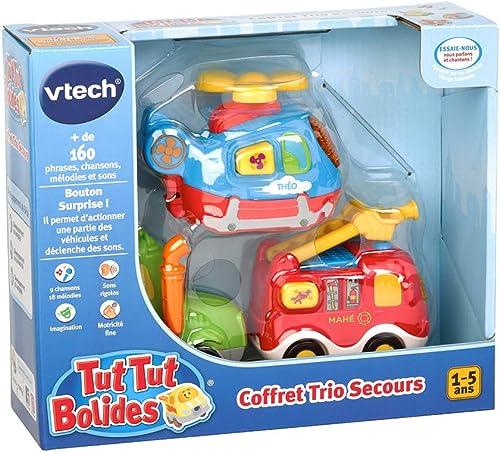 Vtech Tut Tut Bolides - 80-205805 - Coffret Trio Pompiers : LEO + GAETAN + BARNABE - Modèle aléatoire - Version FR