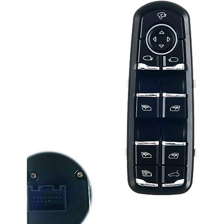 WEILEITE Front Driver Car Master Power Window Switch Panel Compatible With Porsche Cayenne 2011-2014 Porsche Panamera 2010-2015 Replaces 7PP959858RDML 7PP959858MDML
