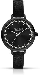 Midnight Glow Black Women's Watch with Black Leather Strap EML009-01BL