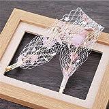 MultiKing tocado de novia Cinta de malla Satin flores Flores accesorios para el cabello de novia boda tocado Photo Studio Accesorios