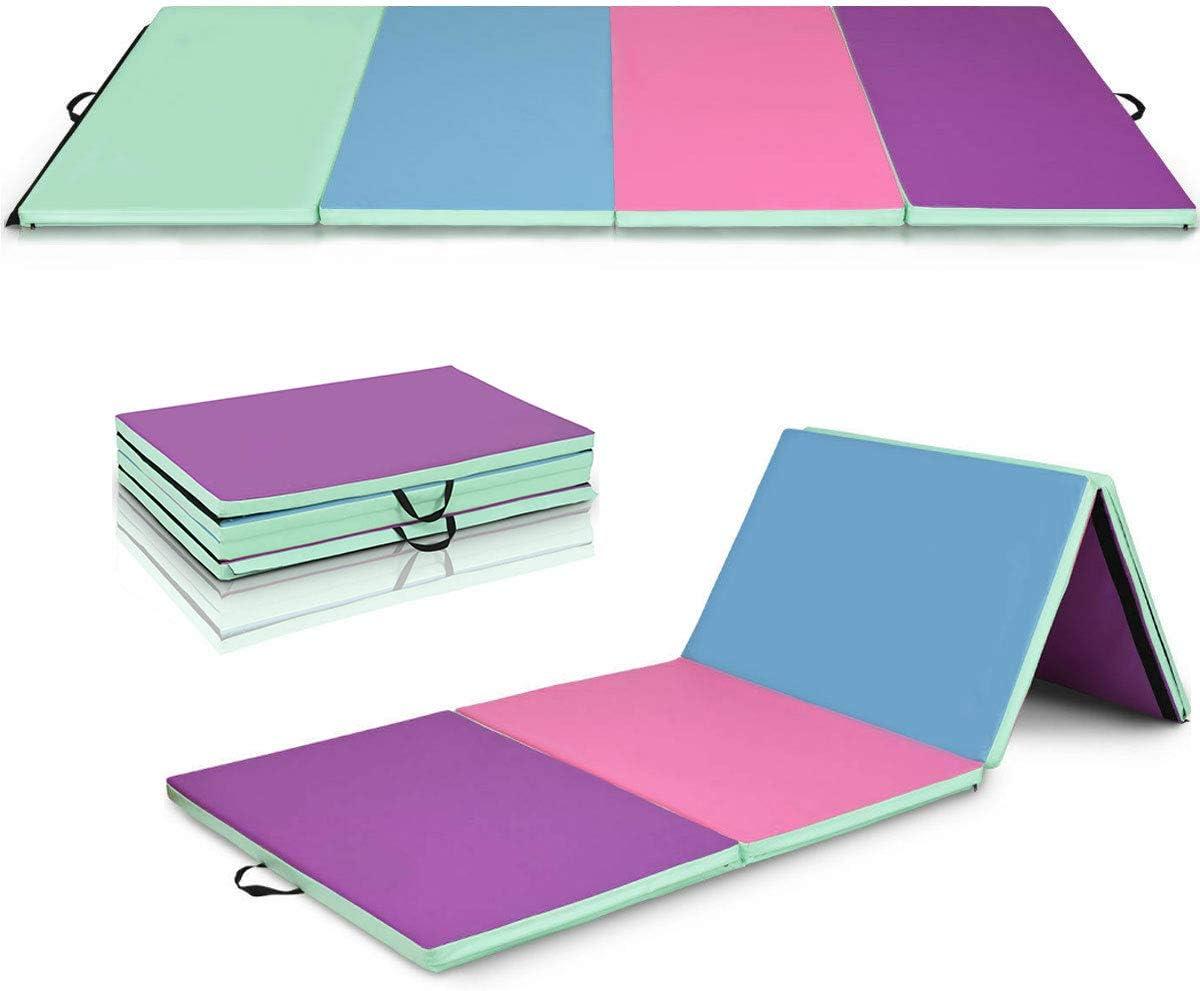 Giantex Ranking TOP17 Department store 4'x10'x2'' Gymnastics Mat Folding Anti-Tear