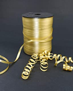 GIFTEXPRESS 500 yards Gold Curling Ribbon for Balloon Ribbon, Balloon String, Gift Wrapping Supplies, Party Decorations, A...