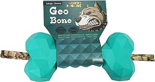 [ CHEWY BONE ] Dog Chew Bone Toys For Aggressive Chewers Treat Dispenser Durable Rubber Bone Heavy Duty Indestructible 17c...