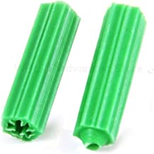 Anchor Point 100pcs Plastic Expansion Pipe Green M6 M8 Wall Plug Rubber Anchor Plug self Tapping Screw Expansion Tube Fast...