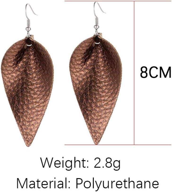 Cadeaux de No/ël Bijoux tendance SUNSKYOO /Échantillon de boucles doreilles pendantes en cuir /à paillettes multicolores pour femme et fille Argent