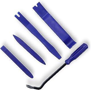 LivTee 5 pcs Auto Trim Removal Tool Kit, Interior Door Panel Clip Removal Set for Vehicle Dash Radio Audio Installer (Blue)