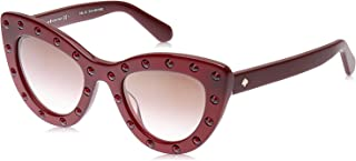Kate Spade Women's Luann/S S1K Burgundy S 50 Lens QH BROWN MS GLD Sunglasses