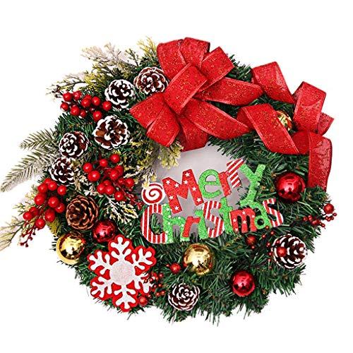 YGB Puerta de Entrada de Navidad Colgante de Guirnalda Grande Elemento de Navidad Lindo Muñeca Ramas de Pino