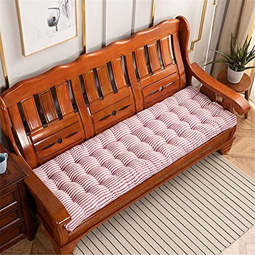 Cuscino rettangolare per panca- 8 cm di spessore- Cuscino per panca da giardino 2/3/4 posti- morbido/Antiscivolo/addensare- per giardino, ambienti esterni ed interni ( Color : M , Size : 52x160cm )