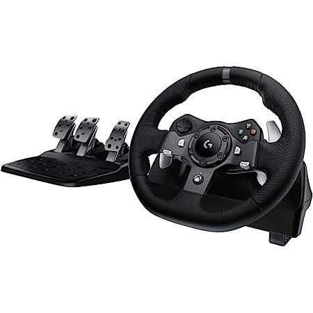 Logitech G920 Driving Force Racing Wheel Volante da Corsa, Pedali Regolabili, Ritorno di Forza Reale, Comandi Cambio in Acciaio Inossidabile, Volante in Pelle, Spina EU, Xbox Series X/S PC/Mac, Nero