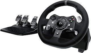 Logitech G920 Driving Force Racing Wheel Volante da Corsa, Pedali Regolabili, Ritorno di Forza Reale, Comandi Cambio in A...