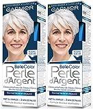 Garnier - Belle Color - Perle d'Argent - Crème déjaunisseur éclat cheveux blancs - Blanc Nacre - Lot de 2