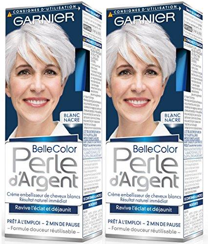 Garnier–Belle Color–Perla D' argento–Crema déjaunisseur Lucentezza Capelli Bianchi Bianco–bianco madreperla–Set di 2