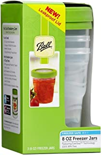 Ball Plastic Pint Freezer Jars with Snap-On Lids | 8-Ounces | 3-Count per Pack (1-Pack)