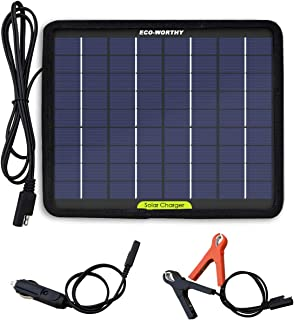 ECO-WORTHY 12 Volts 5 Watts Portable Power Solar Panel Battery Charger Backup for Car Boat Batteries