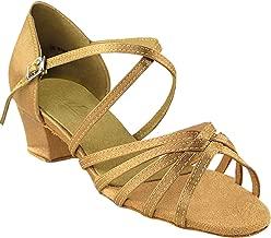 Women's Ballroom Dance Shoes Salsa Latin Practice Shoes 1670cEB Comfortable-Very Fine 1.5