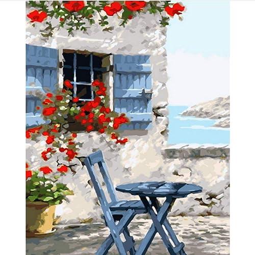 hasta un 70% de descuento Pintura Pintura Pintura al óleo por números Pintar por número para la decoración del hogar Cuadro al óleo Pintura de jardín 40x50cm Enmarcado  los últimos modelos