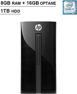 HP Pavilion 2019 460 Premium Desktop (Intel Dual-Core i7-7700T 2.9 GHz up to 3.8 GHz, 8GB RAM+16GB Optane RAM, 1TB HDD, DVD, WiFi, Bluetooth, HDMI, Keyboard, Mouse, Win10 Home)