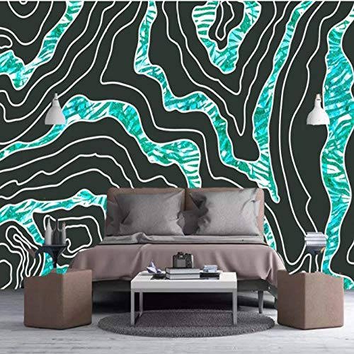 Papel pintado fotográfico personalizado De Parede Abstracto Azul Azulejo Textura Impermeable Lona Pintura Pared Papeles de pared Decoración del hogar 150 cm x 105 cm