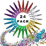 metal kazoo instrumento musical,kazoo de aleación de aluminio,mirlitón,kazoo con membrana,Kazoo colores,Kazoo flauta (24 piezas)