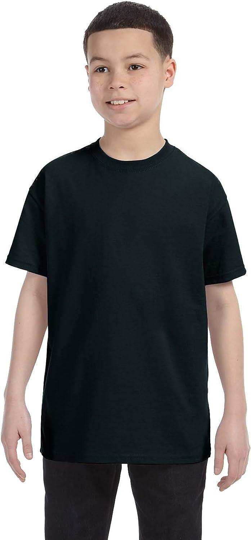 By Gildan Youth 53 Oz T-Shirt - Black - L - (Style # G500B - Original Label)