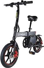 TOEU Electric Bike, Max Speed 20km/h, 14 inch Adult Bike, Urban Commuter Folding E-bike, Pedal Assist Bicycle, 36V/6Ah Rec...