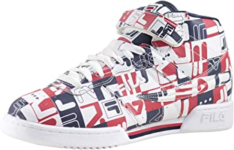 Fila Men's F-13-Archive-Print White Navy Red Sneakers Shoes