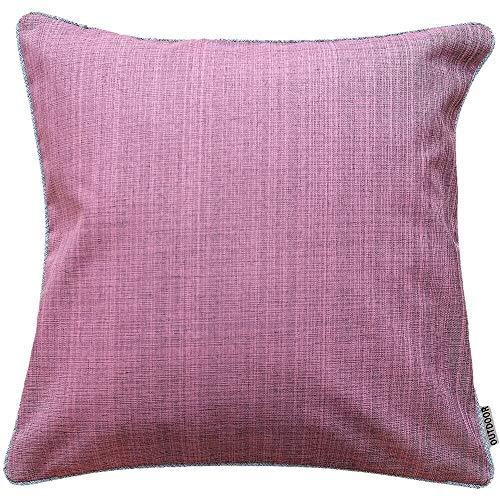 matches21 Kussensloop Buiten Kussensloop wasbaar weerbestendig Kussensloop in 7 kleuren - Grijs - Afmeting: 40x40 cm roze