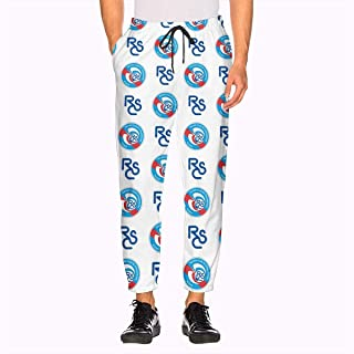 RC Strasbourg Alsace Men's Sweatpant with Pockets Athletic Workout Jogger Pants for Mens White
