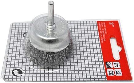 PFERD 81135 Medium Face Crimped Wheel Brush 2 Arbor Hole 1-7//8 Trim Length Carbon Steel Wire 10 Diameter 3600 Maximum RPM 1-1//4 Face Width 0.020 Wire Size
