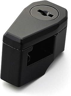デイトナ バイク用 ヘルメットロック 鍵タイプ ブラック 22.2mm/25.4mmハンドル装着可能 75477