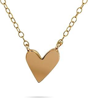 Collana a cuore in oro Lunghezza catena delicata 41 cm + prolunga Collana riempita in oro riempito