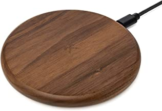 Woodcessories EcoPad - Fast Wireless Charger Compatible with QI-Enabled Devices, iPhone 11 Pro (Max), 11, X, Xr, Xs (Max), 8 (Plus), Samsung S10 (Plus), S10e, S9 (Plus), S8 (Walnut)