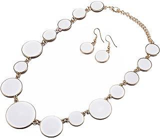 Best white enamel necklace Reviews