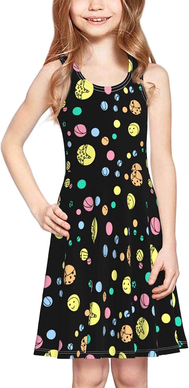 YhrYUGFgf Summer Beach Dress Girl's Cute Casual Skirt Tank Dress