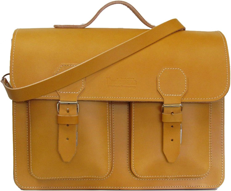 Thielemann Aktentasche Ledertasche Tasche aus Leder Schultertasche 385 48 cognac