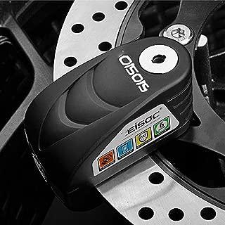 YLWSDDD Motorcycle Waterproof Alarm Lock Bike Steelmate Disc Lock Warning Security Anti Theft Brake Rotor Padlock