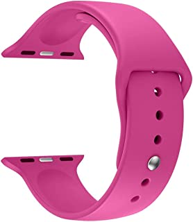Watch Band - LNKOO Soft Silicone Sport Style Replacement iWatch Strap bands for Apple Wrist Watch (Pink)
