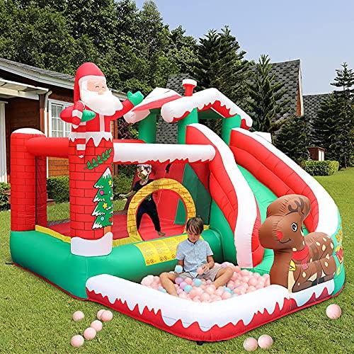 YQGOO Parque de tobogán acuático Inflable para niños, casa de Rebote con tobogán y soplador de Aire Castillo Hinchable para el jardín de Verano al Aire Libre en el Patio Trasero, 325X280X225cm,