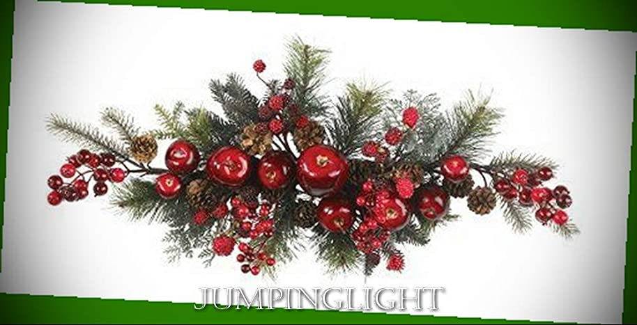JumpingLight 4678 30'' Apple Berry Swag Artificial Flowers Wedding Party Centerpieces Arrangements Bouquets Supplies