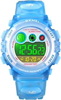 キッズ腕時計 子供用腕時計 女の子 男の子 防水 ボーイ ガールズ腕時計 ピンク 多機能 デジタル表示 アラーム ウォッチ キッズ 祝日 誕生日プレゼント