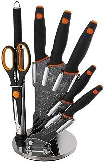Berlinger Haus Ensemble de couteaux à huit pièces avec support noir / orange