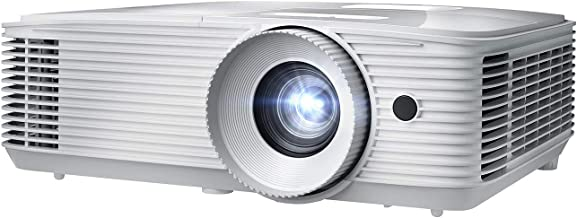 Optoma EH412 1080P HDR DLP Professional Projector | Super Bright 4500 Lumens | Business Presentations, Classrooms, and Meeting Rooms | 15000 Hour Lamp Life | 4K HDR Input | Speaker Built in