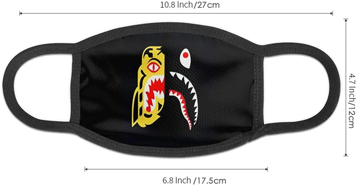 Shark Bandana Anti-dust Neck Gaiter Bape Face Mask Balaclava Scarf for Outdoors Camping