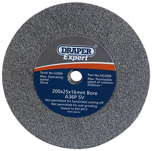 Draper 52069 Ag200b Expert de meulage 30 g 200 mm x 25 mm