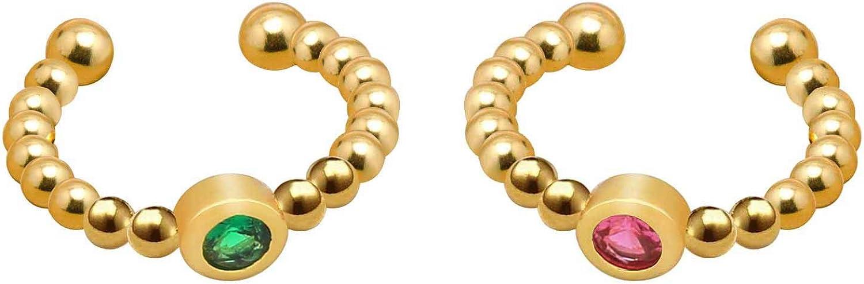 KELITCH Gold Color Ear Clips Non Piercing Earrings Hoop Ear Cuffs Cartilage Tragus Earrings Set for Women Girls