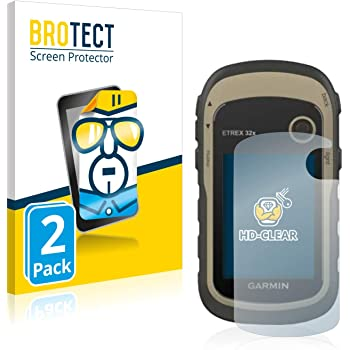 BROTECT Schutzfolie kompatibel mit Garmin eTrex 32x (2 Stück) klare Displayschutz-Folie
