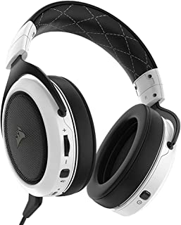 Corsair HS70 Wireless Gaming Headset with 7.1 Surround Sound - White